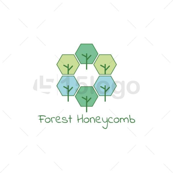 forest honeycomb online logo design