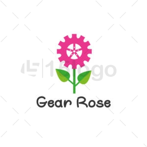 gear rose shop logo design
