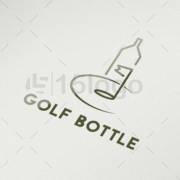 golf bottle online logo design