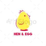 hen egg online logo design