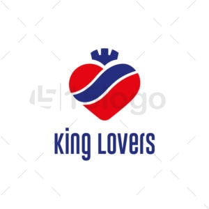 king love online logo design