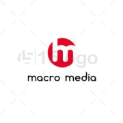 macro mídia online logo design