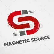 magnetic source shop logo design