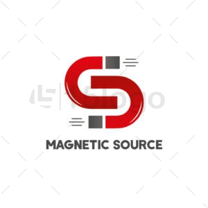 fonte magnética shop logo design