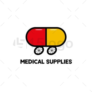 medical supplies online logo template