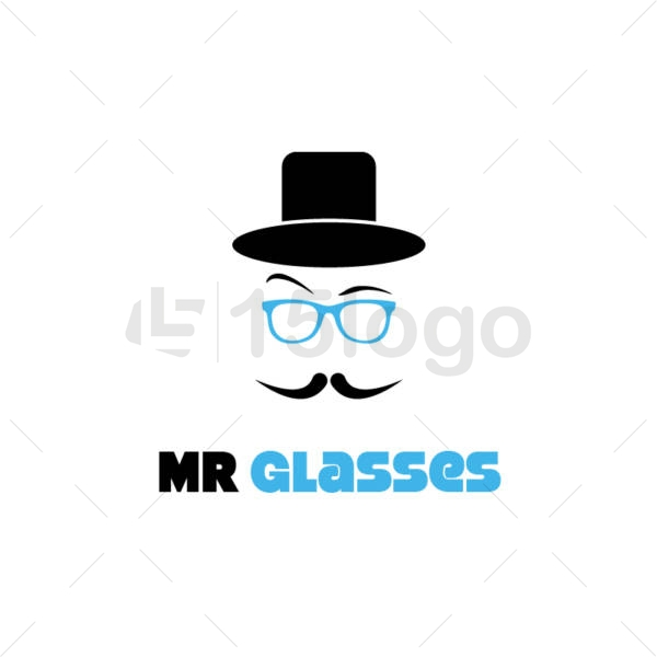 mr glasses online creative logo