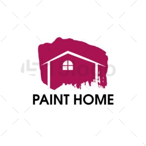 paint home shop logo design