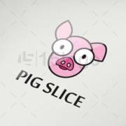 pig slice online logo template