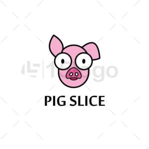 cerdo rebanada online logo template