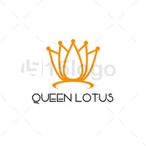 queen lotus shop logo design