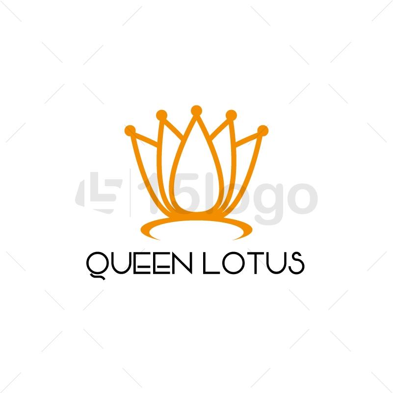 Queen Lotus Logo Design