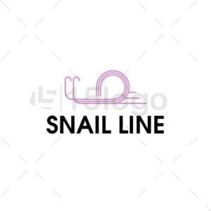 snail line online logo template