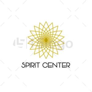 espíritu center online plantilla logotipo