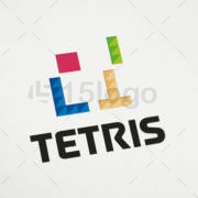 tetris online logo design