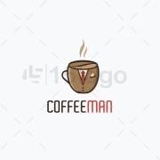 Coffee Man logo template