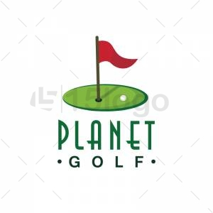 Planet Golf logo template