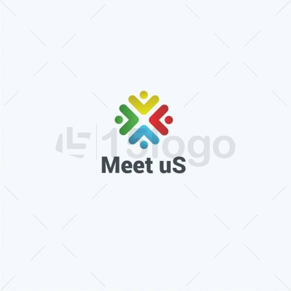 Meet us logo design