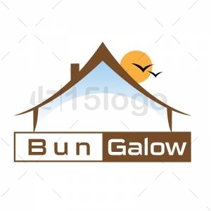Bungalow resort logo template