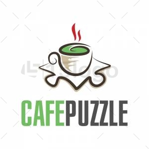 CAFE PUZZLE logo design