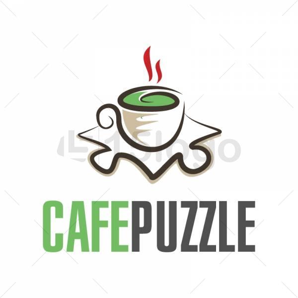 CAFE PUZZLE logo design