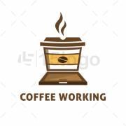 Coffee Working Logo Design
