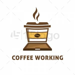 Coffee Working Logo Design