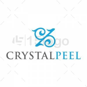 Crystal Peel logo design