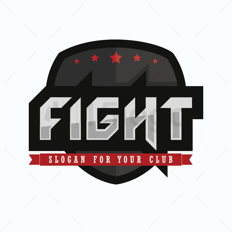 Fight logo template