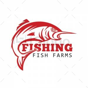 Fishing logo template