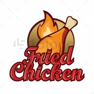 Fried chicken logo design