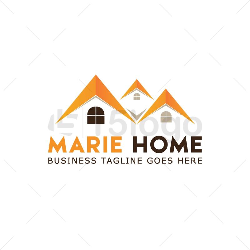 marie home logo design 15 logo. Black Bedroom Furniture Sets. Home Design Ideas