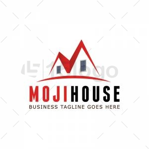 Moji House logo design