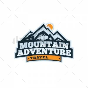 Mountain adventure logo
