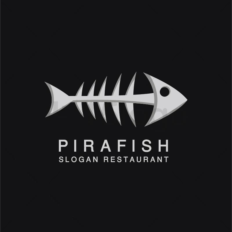 Pirafish logo template