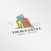 Immeubles logo template