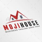 Moji House logo design