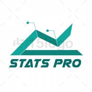 Stats pro logo template