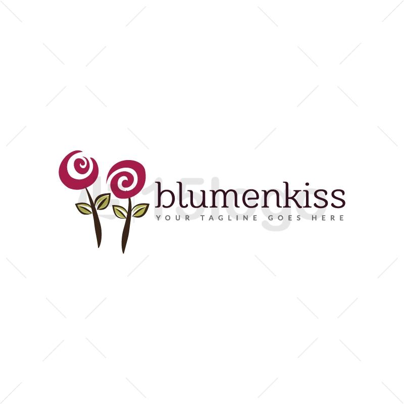 Blumenkiss logo design