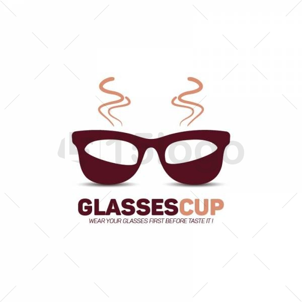 Glasses Cup logo Template