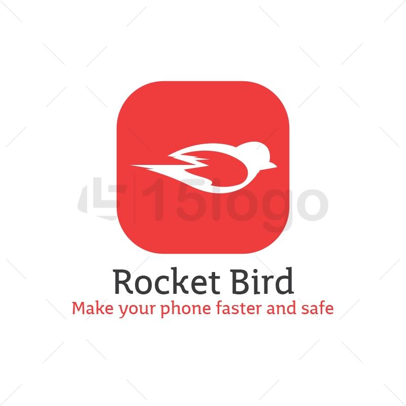 Rocket Bird Logo Template
