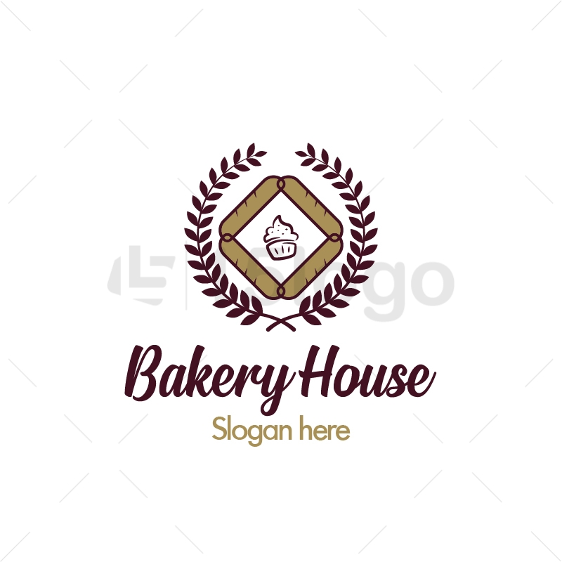 bakery house logo design